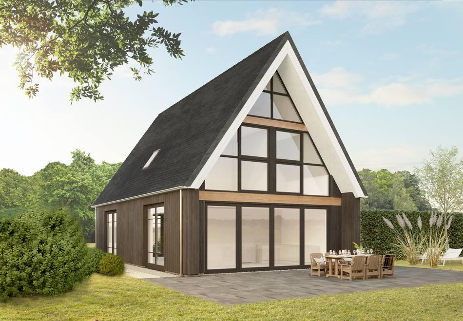 Kleine kaap d achterkant with wat kost een huis bouwen nl for Wat kost bouwen huis